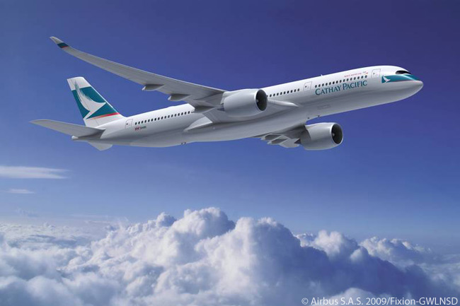 Cathay Pacific Airways Signs Letter of Intent for 30 Airbus A350-