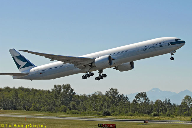 Cathay Pacific Airways Orders Six More Boeing 777-