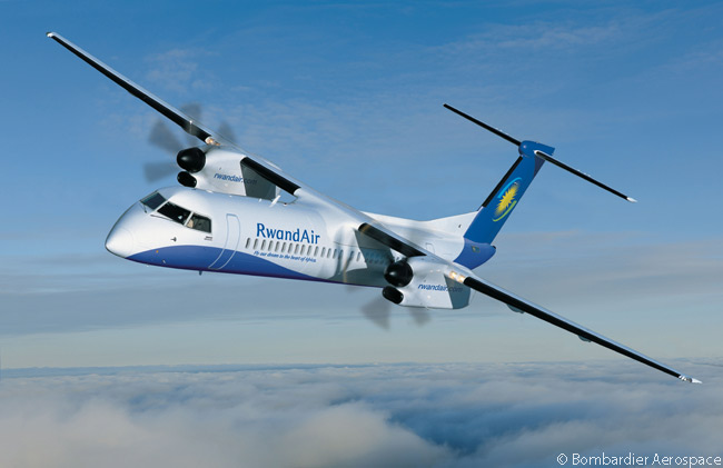 On April 22, 2013, Kigali, Rwanda-based RwandAir ordered a Bombardier Q400 NextGen turboprop to replace a Dash 8-200 turboprop in domestic and regional international service. The Q400 NextGen joins four Boeing 737NGs and two Bombardier CRJ900 NextGen regional jets in Rwandair's fleet