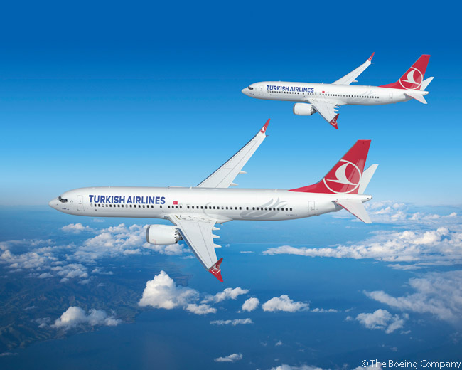 On May 14, 2013, Turkish Airlines finalized an order 40 Boeing 737 MAX 8s, 10 Boeing 737 MAX 9s and 20 Boeing 737-800s. The agreement also included options for an additional 25 737 MAX 8s