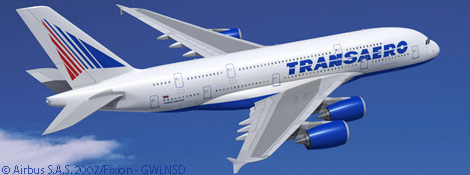 Post image for Transaero Confirms Each of Its A380s Will Have 652 Seats